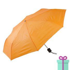 Opvouwbare paraplu poly oranje bedrukken