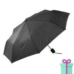 Opvouwbare paraplu poly zwart bedrukken