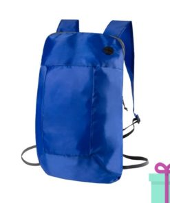 Opvouwbare rugzak goedkoop blauw bedrukken