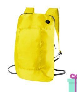 Opvouwbare rugzak goedkoop geel bedrukken