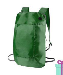Opvouwbare rugzak goedkoop groen bedrukken