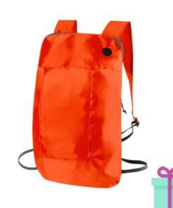 Opvouwbare rugzak goedkoop oranje bedrukken