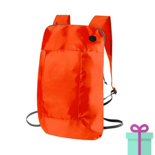 c2dc16cc504 Opvouwbare rugzak goedkoop oranje | Relatiegeschenken-drukken.nl
