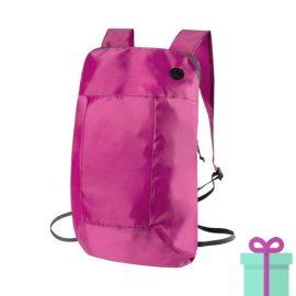 Opvouwbare rugzak goedkoop roze bedrukken
