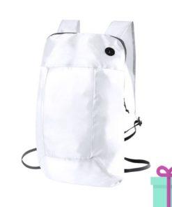 Opvouwbare rugzak goedkoop wit bedrukken
