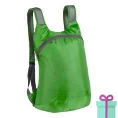 Opvouwbare rugzak karabijnhaak groen bedrukken