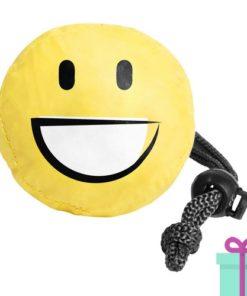 Opvouwbare shopper emoij smile bedrukken