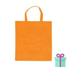 Opvouwbare shopper in tasje oranje bedrukken