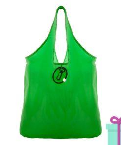 Opvouwbare shopper karabijnhaak groen bedrukken