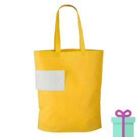 Opvouwbare winkeltas bedrukt geel bedrukken
