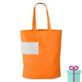 Opvouwbare winkeltas bedrukt oranje bedrukken