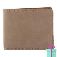 PU Lederen portemonnee voor pasjes bruin bedrukken