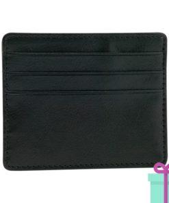 PU creditcard portemonnee zwart bedrukken