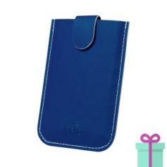 PU creditkaarthouder 5 blauw bedrukken