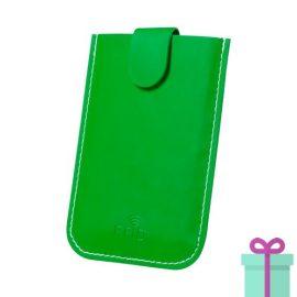 PU creditkaarthouder 5 groen bedrukken