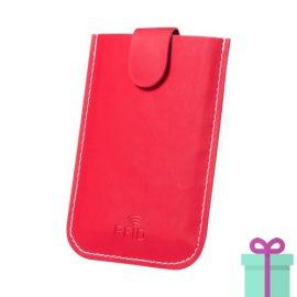 PU creditkaarthouder 5 rood bedrukken