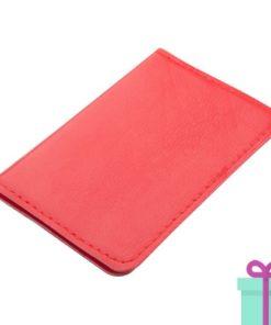PU kaartenhouder 12 rood bedrukken
