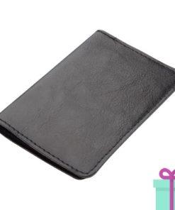 PU kaartenhouder 12 zwart bedrukken