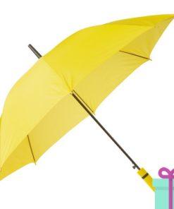 Paraplu automatische opening geel bedrukken