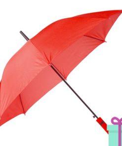 Paraplu automatische opening rood bedrukken