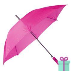 Paraplu automatische opening roze bedrukken