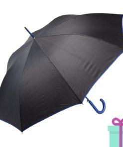 Paraplu gekleurde haak blauw bedrukken