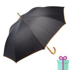 Paraplu gekleurde haak oranje bedrukken