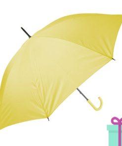 Paraplu goedkoop color geel bedrukken