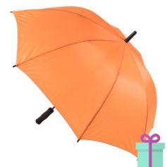 Paraplu goedkoop typhoon oranje bedrukken