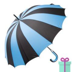 Paraplu zwart blauw bedrukken