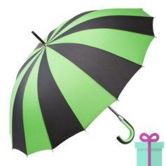 Paraplu zwart groen bedrukken
