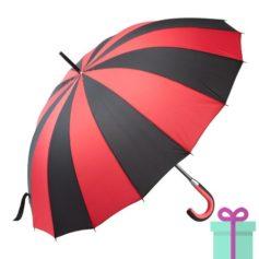 Paraplu zwart rood bedrukken