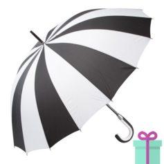 Paraplu zwart wit bedrukken