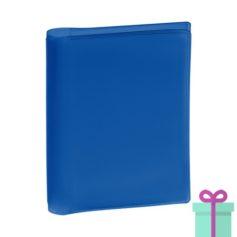 Pasfoto houder blauw bedrukken