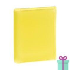 Pasfoto houder geel bedrukken