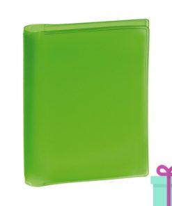 Pasfoto houder groen bedrukken