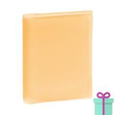 Pasfoto houder oranje bedrukken