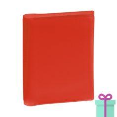 Pasfoto houder rood bedrukken