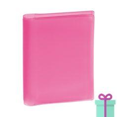 Pasfoto houder roze bedrukken