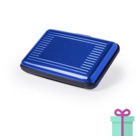 Pashouder doosje blauw bedrukken