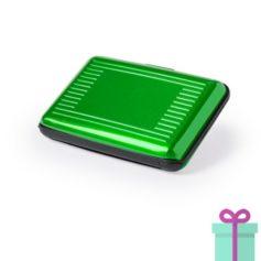 Pashouder doosje groen bedrukken