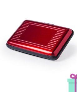 Pashouder doosje rood bedrukken