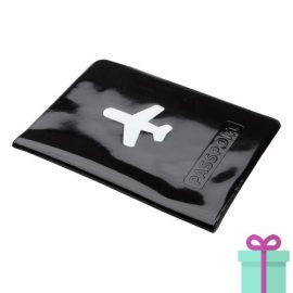Paspoorthoes PVC zwart bedrukken