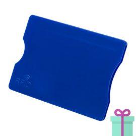 Plastic kaarthouder blauw bedrukken