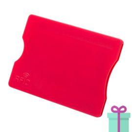Plastic kaarthouder rood bedrukken