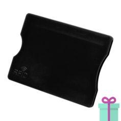 Plastic kaarthouder zwart bedrukken