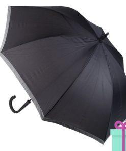 Pongee paraplu bedrukt met logo zwart bedrukken