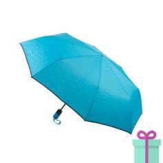 Pongee windproof opvouwbare paraplu blauw bedrukken