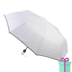 Pongee windproof opvouwbare paraplu wit bedrukken