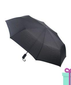 Pongee windproof opvouwbare paraplu zwart bedrukken